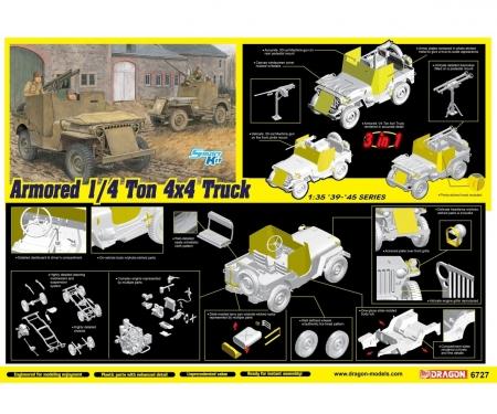 1:35 Armored 1/4-Ton 4x4 Truck w/.50-cal