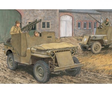1:35 Armored 1/4TON 4x4Truck mit Bazooka