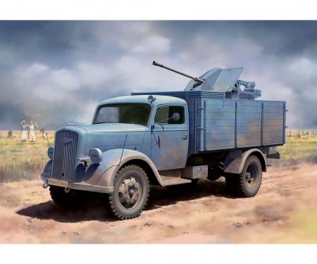 carson 1:35 German 3t 4x2 Truck w/2cm FlaK 38