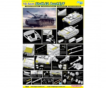 1:35 10,5cm StuH.42 Ausf.E/F (Smart Kit)