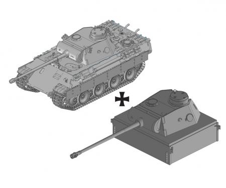 1:35 Panther Ausf.D mit Pantherturm