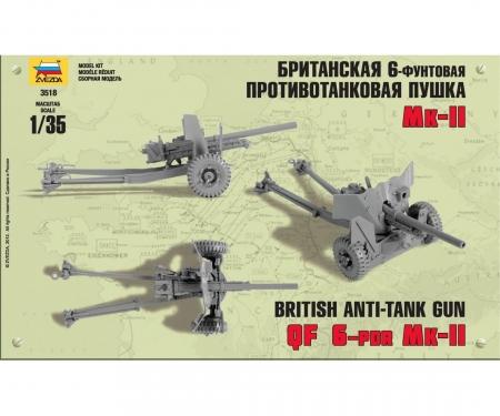 1:35 British Anti Tank Gun 6 pdr (RR)