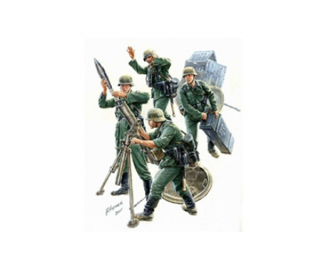 1:35 WWII Fig.-Set Dt.Mörser-Trupp(4)42