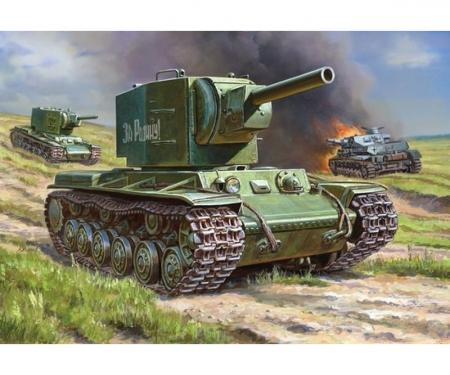 1:35 WWII Rus. Tank KV-2 Gigant