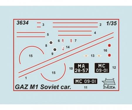 carson 1:35 GAZ M1 Soviet Staff Car