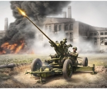 1:72 WWII Soviet A-Aircr. Gun w/Crew