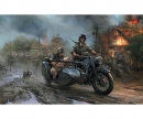 carson 1:72 WWII German Motorcycle R-12