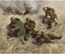 carson 1:72 British Machine Gun w/crew 1939-42