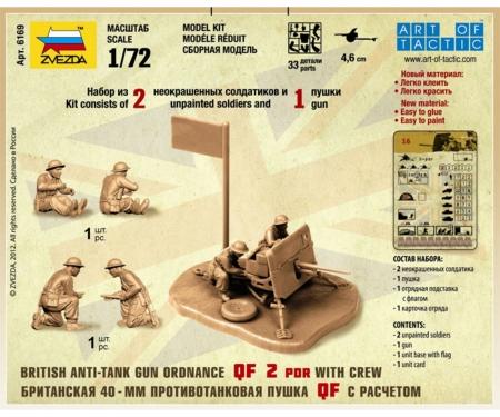 carson 1:72 British QF 2-pdr Anti Tank Gun,crew