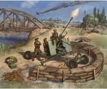 carson 1:72 British Bofors 40mm Mk-2 AA-Gun