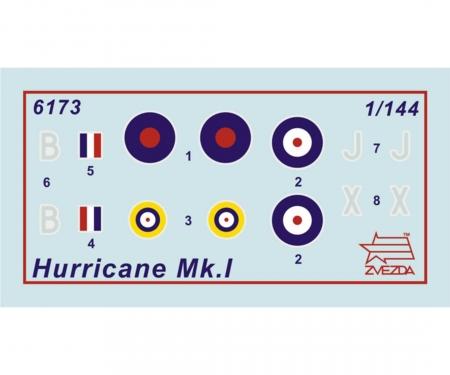"carson 1:144 Brit. Jäger ""Hurricane Mk-1"" WA"