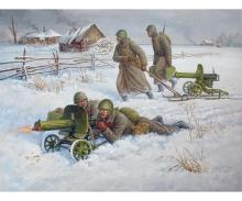 carson 1:72 Soviet Machine-gun w/Crew (Winter)