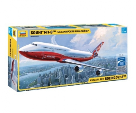 carson 1:144 Boeing 747-8 Airliner