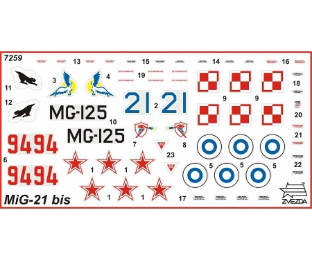 carson 1:72 Fighter Jet MiG-21BIS Fishbed-L
