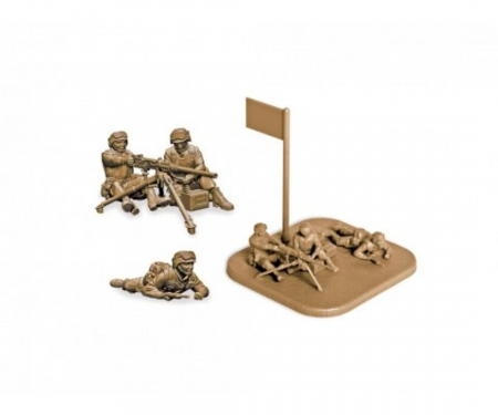 "carson 1:72 US-Machine gun ""Browning"" with crew"