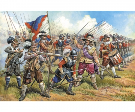carson 1:72 Austrian Musket.+Pikemen 17th cty
