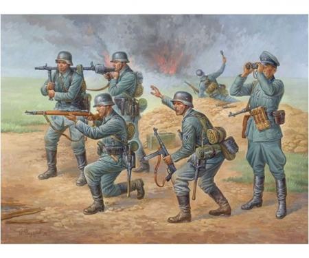 1:72 WWII Figure-Set Ger. Infantry