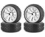 Tyre/ wheel rim set CV-10B Chrome (4)