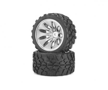 carson Tyre/ wheel rim set Off-Road C V-10T Chr