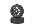 carson 1:8CY Tyre/Wheel-Set Buggy, black (2)