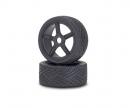 carson 1:8 On-Road Tyre/Wheel-Set, black (2)