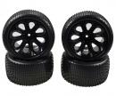 carson X10ET Rock Warrior Pre glued tyres 4x