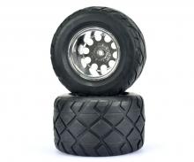 1:10 Fr.Wheel-Set Monster Str./w/o.hex,2