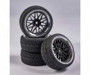 carson 1:10 Wheel Set Y-Design1 (4) bl./chrome
