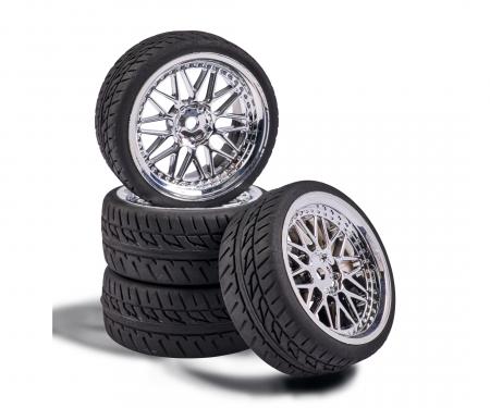 carson 1:10 Wheel Set Y-Design1 (4) chrome