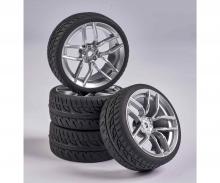 carson 1:10 Wheel Set 10 sp. Design (4) silver