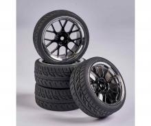 carson 1:10 Wheel Set Y-Design2 (4) bl./chrome