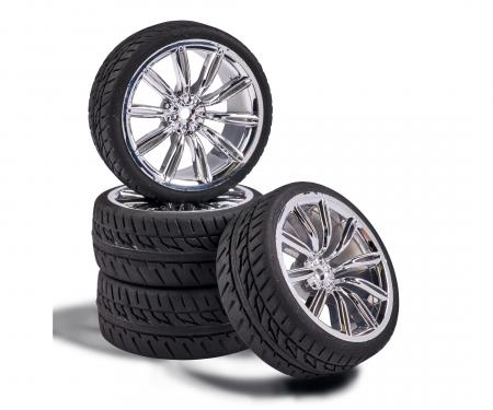 carson 1:10 Wheel Set M-Design (4) chrome