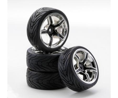 1:10 SC-Wheel AMC Style ch./black (4)