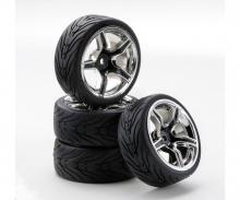 carson 1:10 SC-Wheel AMC Style ch./black (4)