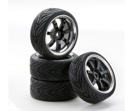 1:10 SC-Wheel W7 Style chrome/black (4)