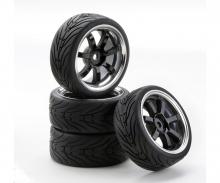 1:10 SC-Räder W7 Style chrom/schwarz (4)