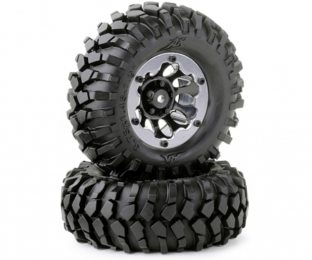 Tire set Crawler 96mm black bead lock