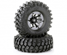 Tire set Crawler 108mm bl. bead lock