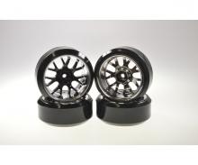 Drift Tire Set 1/10 H-Fl.(W-R.)bl./chr.