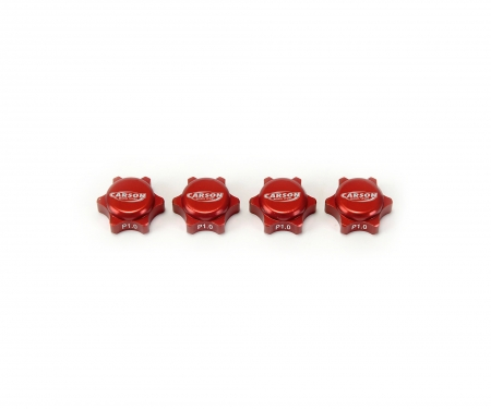 1/8 Wheelnuts closed 1.0 thread red (4)