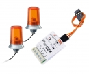 carson 24x15mm Orange Flashing Light w/Elec.(2)