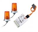 carson 24x15mm Orange Flashing Light w/Elec.(2)