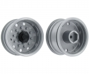 1:14 Trailerwheel f. Tire wide Silver(2)