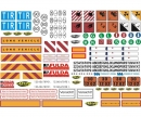 carson 1:14 Sticker-Sheet Truck Caution-Signs