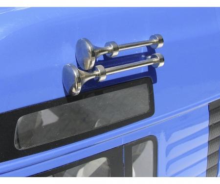 carson 1:14 Air Horn-Set long/short chr.brass