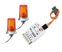 carson 15x10mm Orange Flashing Light w/ E.(2)