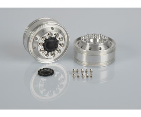 carson 1:14 Alum. Fr. narrow wheel (2)dri.axle