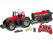 carson 1:16 RC Traktor m.Tankwag.2.4G 100% rot