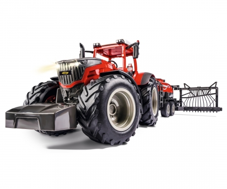 carson 1:16 RC Tractor w. road tank 100% red