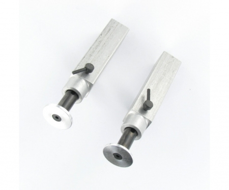 carson 1:14 Alum. Trailer support legs (2) 73mm